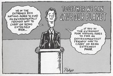 Cartoon on wealth